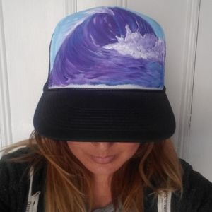 Hand Painter Wave Trucker Hat